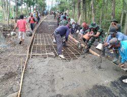 Karya Bakti Kodim Kuningan, Bangun Jalan di Desa Margamukti