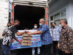 Kuningan Dapat Bantuan 10 Ribu Butir Telur dari PT CPJF