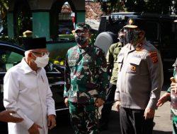 Pangdam III/Siliwangi Dampingi Wakil Presiden Tinjau PTM dan Serbuan Vaksin Di Citeureup Bogor