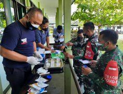 Anggota TNI dan PNS Kodim Kuningan Dites Urine