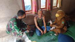 Anggota Koramil Pancalang Dampingi Vaksinasi ODGJ