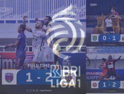 BRI Liga 1 Jum'at (24/09/2021) 3 Team meraih kemenangan Persija sementara ungul atas Persela Lamongan