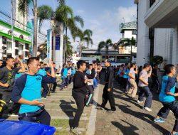 Puluhan Satpam BRI Cabang Kuningan Ikuti Latihan Beladiri Bima Suci