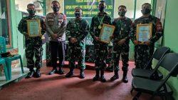Danrem Elkines Berikan Apresiasi Kepada 16 Prajurit Ba Otsus di Wilayah Kodim Kuningan