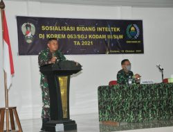 Tim Sintelad Berikan Sosialisasi Inteltek Kepada Aparat Intelijen Korem 063/SGJ