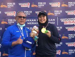 Atlet Lontar Martil Asal Kuningan Raih Medali Emas di PON XX PAPUA
