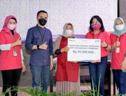 BRI Kanca Kuningan Salurkan Bantuan Sarana Produksi KWT SRI Mandiri Sembawa