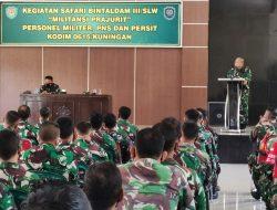 """Militansi Prajurit TNI Kodim Kuningan """"Digembleng"""" Kabintaldam III/SLW"""